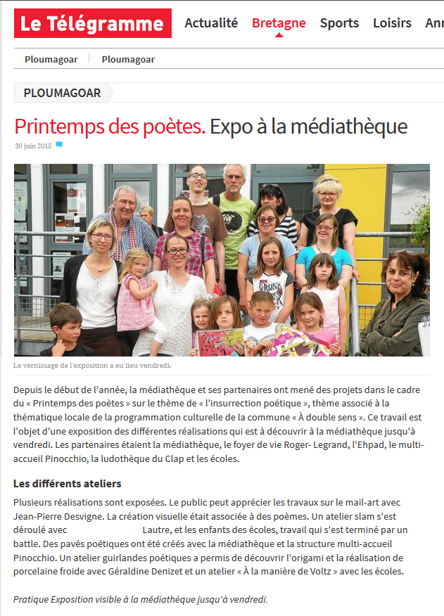 Vernissage expo - 26 juin 2015
